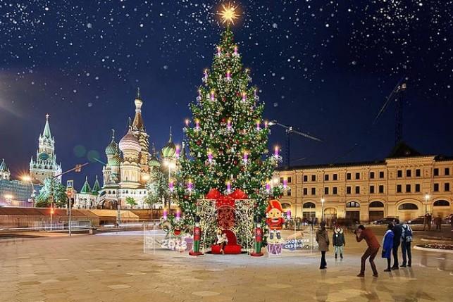 В Москве проходит большая новогодняя ярмарка 2018-2019 до середины января