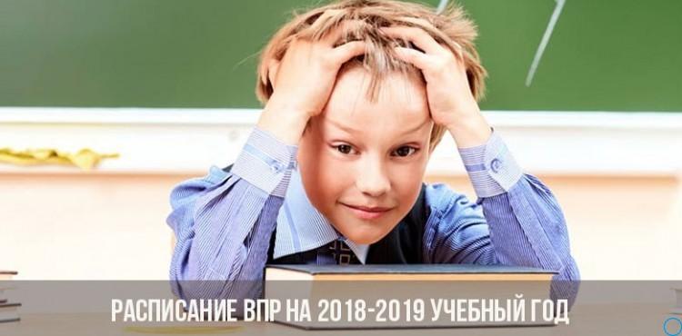 Всероссийские проверочные работы, ВПР 2018-2019: график проведения, расписание