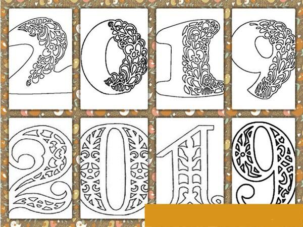 Трафареты на окна из бумаги к Новому 2019 году, чтобы распечатать — Шаблоны и картинки для вырезания