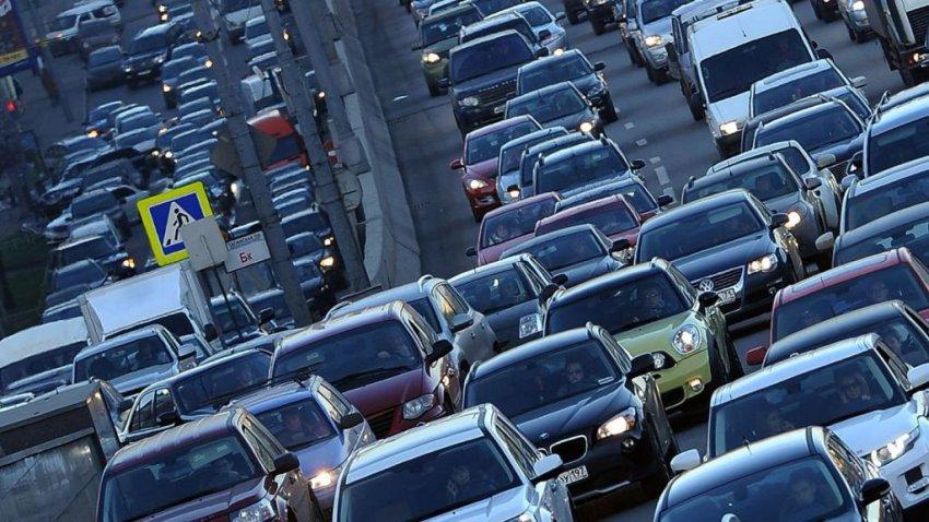 Степень загруженности столичных трасс перед Новым годом