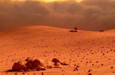 Уфолог увидел на Марсе идеально ровный купол