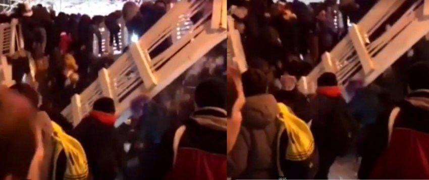 13 человек пострадало в результате обрушения деревянного перехода над катком в парке Горького
