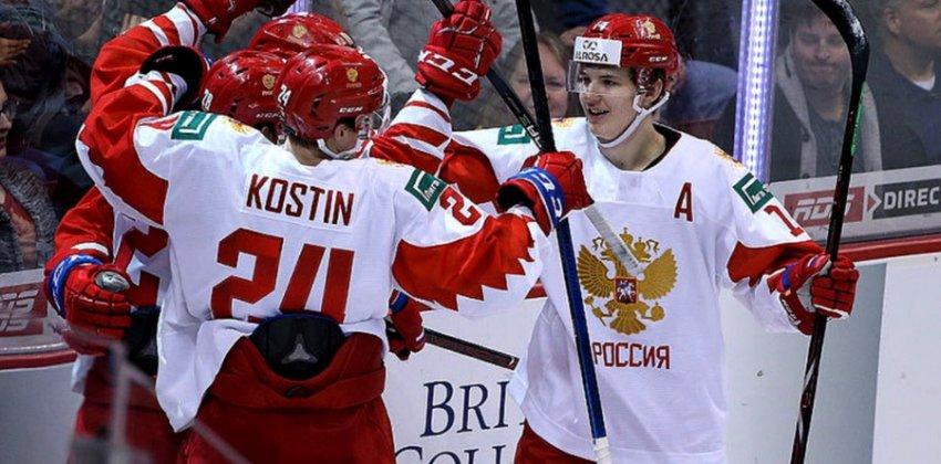 Молодежная сборная России по хоккею одержала волевую победу над командой Швейцарии