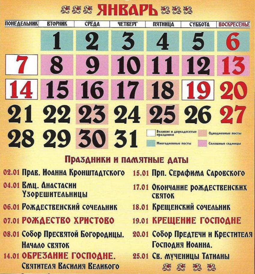 Церковные праздники сегодня 27 января 2019 года