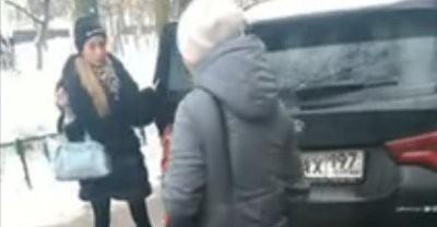 В Москве гламурная женщина-пристав обматерила прохожих