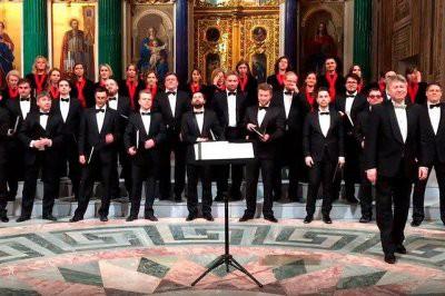 В Исаакиевском соборе хор исполнил песню об атомной бомбардировке США