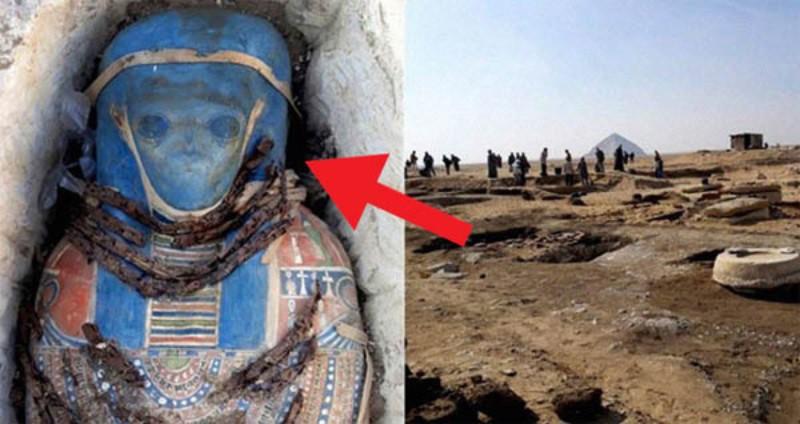 Фейк о мумии с лицом гуманоида