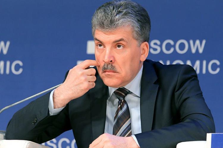 В споре с известным блогером Павел Грудинин пообещал сбрить усы, если наберет на выборах меньше 15%
