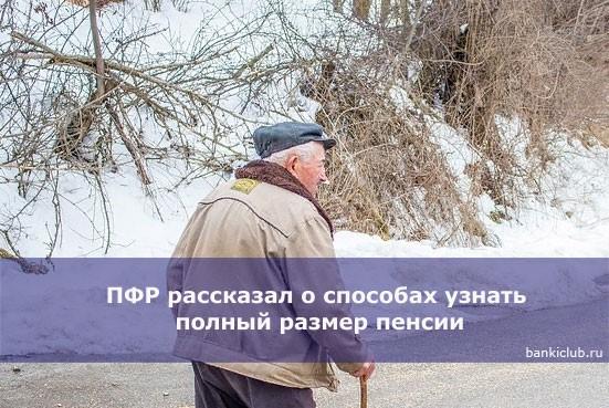 ПФР рассказал о способах узнать полный размер пенсии