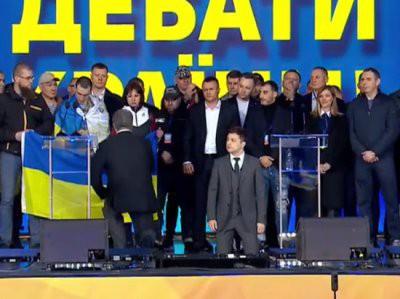 Зеленский и Порошенко встали на колеи в ходе дебатов