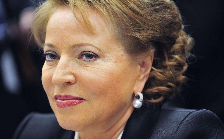 Валентина Матвиенко за год заработала больше Владимира Путина