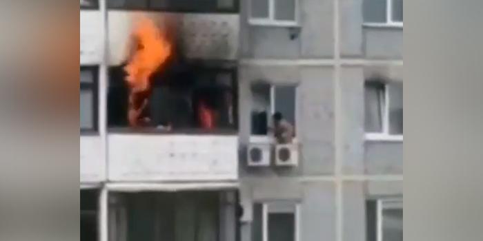 Самарский мальчик спасся от пожара на блоке кондиционера