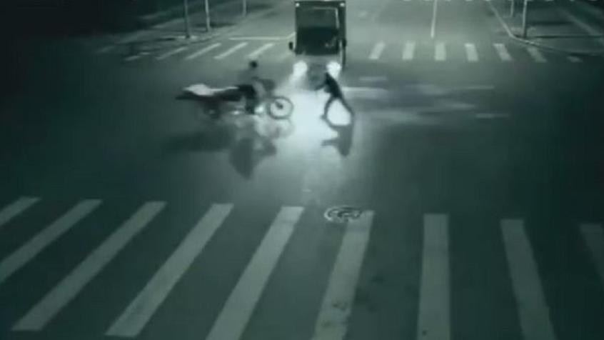Камера видеонаблюдения засняла телепортацию человека