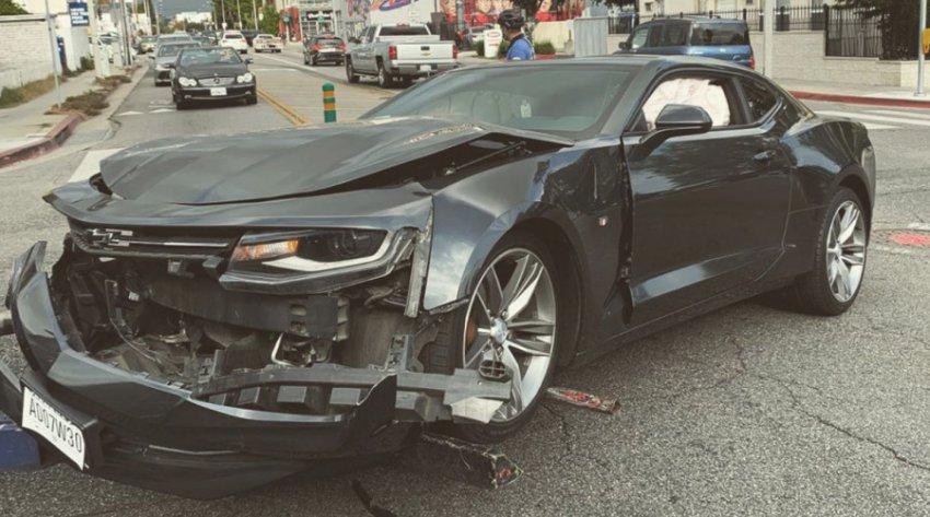 Макс Барских попал в аварию в Лос-Анджелесе