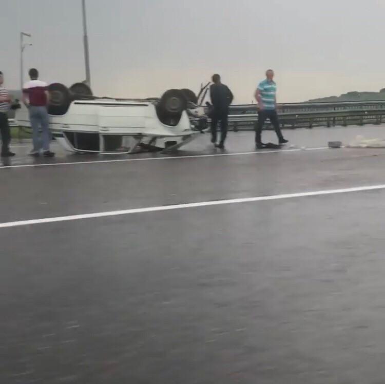 Авария с участием двух автомобилей случилась между Ессентуками и Кисловодском