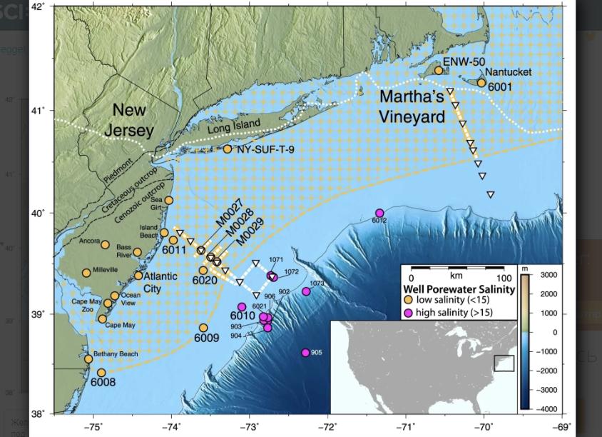Под Атлантическим океаном обнаружено массивное пресноводное море