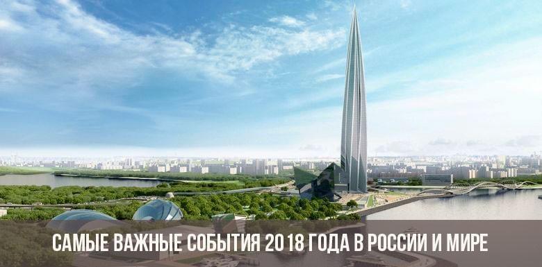 Самые важные события, происшедшие в 2018 году в России и мире