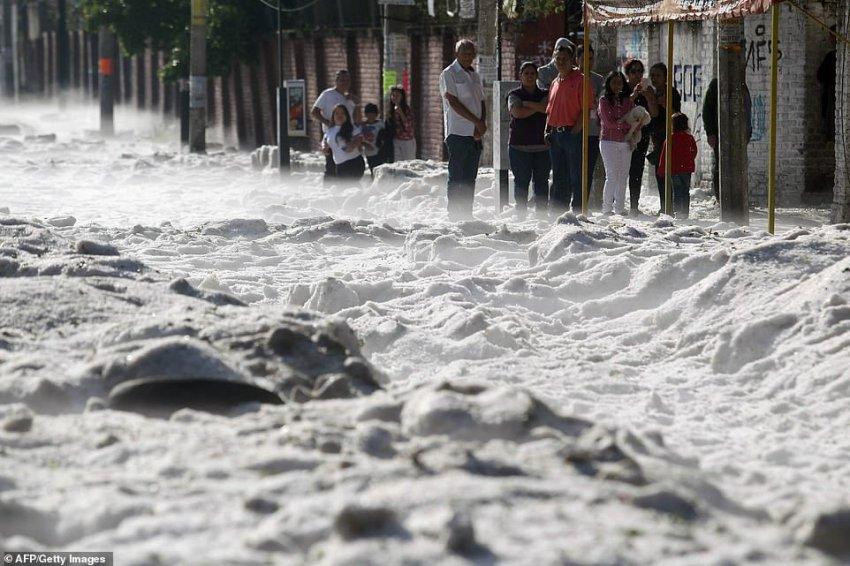 Впервые в истории город Гвадалахара в Мексике завалило градом - Паранормальные новости