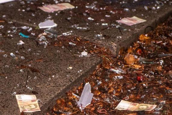 Неизвестные взорвали в Киеве отделение банка