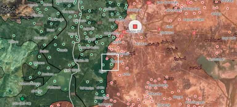 Карта боевых действий Сирии на сегодня, 08.02.2020