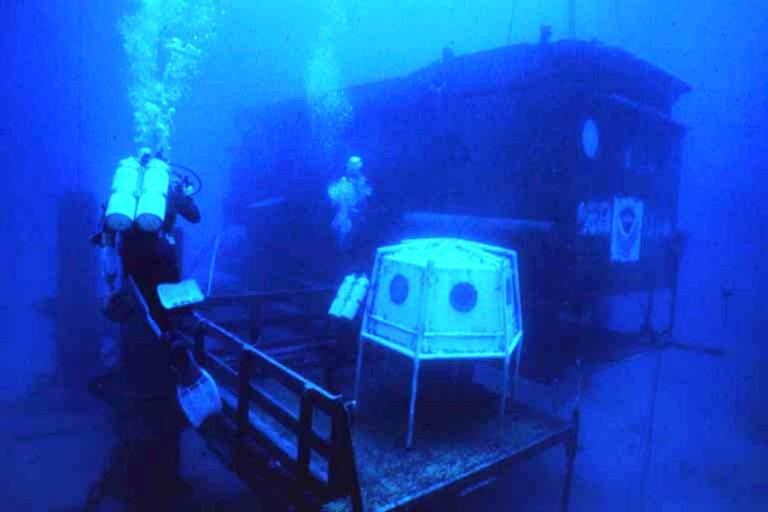 Проект ConShelf I - подводный дом на дне океана