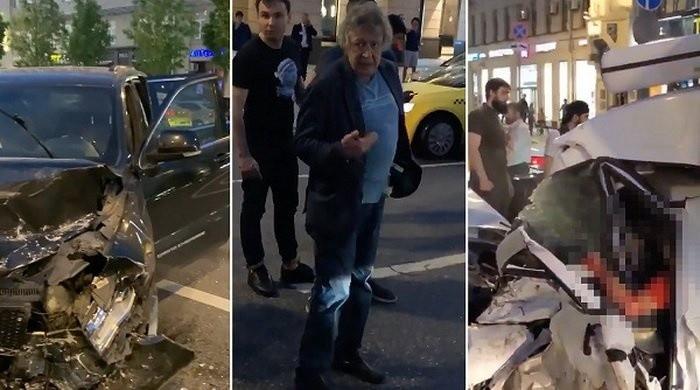 Авария, которую устроил Михаил Ефремов, попала на видео