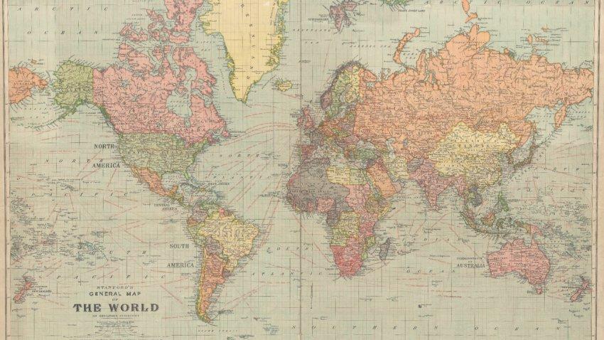 Многих государств уже не существуют: в Сеть попала карта мира 1922 года
