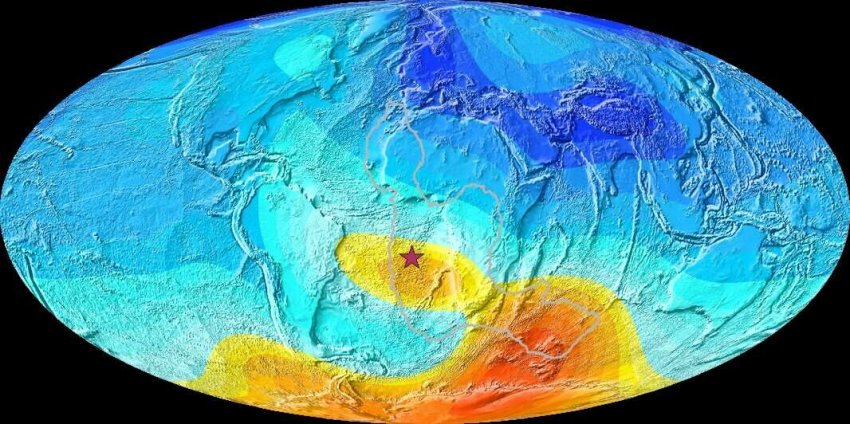 Магнитная аномалия возникла не в результате смены магнитных полюсов Земли