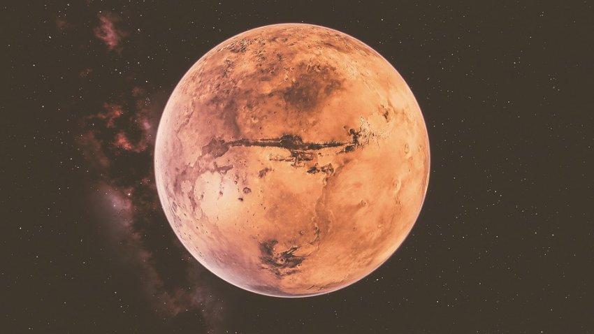 В атмосфере Марса обнаружен метан: его могут вырабатывать живые организмы