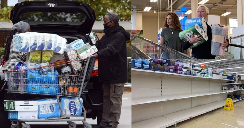 Жители Великобритании сметают с полок магазинов муку и туалетную бумагу