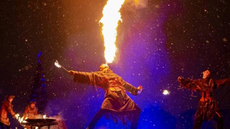 Жители Санкт-Петербурга стали свидетелями невероятного фестиваля огня