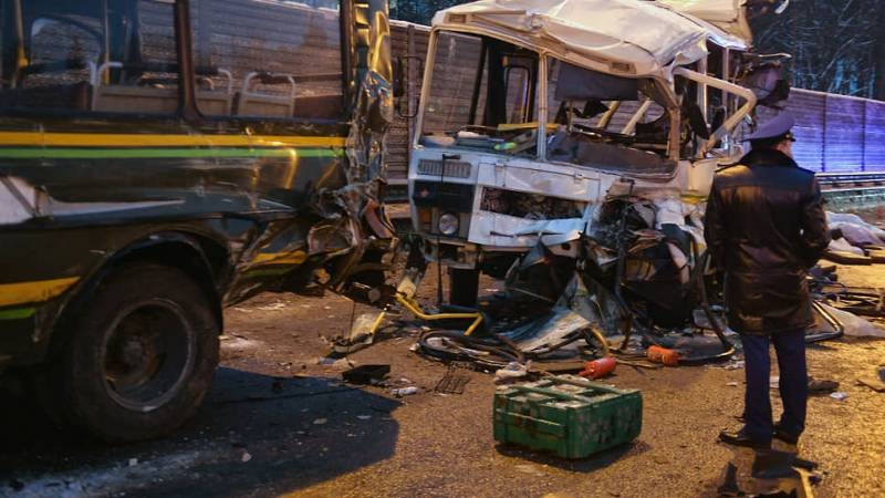 ДТП с автобусом в Подмосковье 11 января 2021 года забрало жизни четырех человек