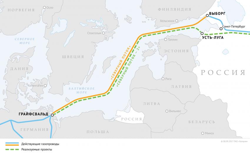 Оператор проекта «Северный поток – 2» озвучил дату завершения строительства