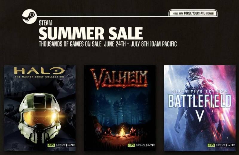 В онлайн-магазине Стим началась Летняя распродажа игр 2021 года