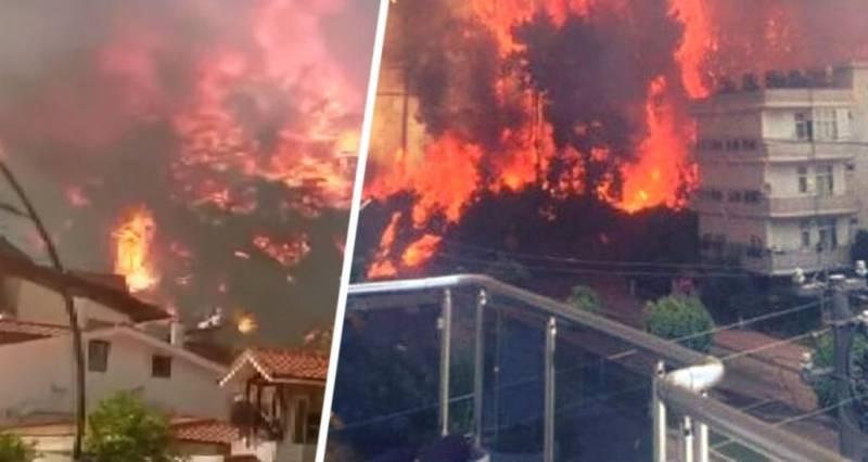 Турция в огне: в Бодруме продолжается эвакуация отелей