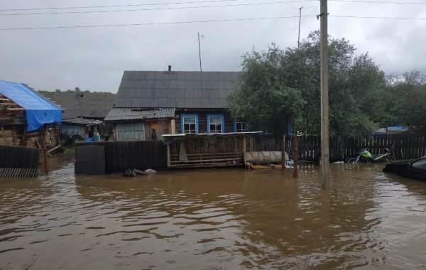 В Амурской области из-за обильных осадков возникли подтопления